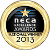 NECA Gold Awards Medals 2013 National Winner